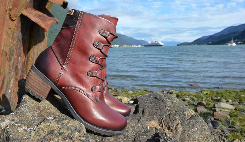 Red, delicious boots at Shoefly Alaska