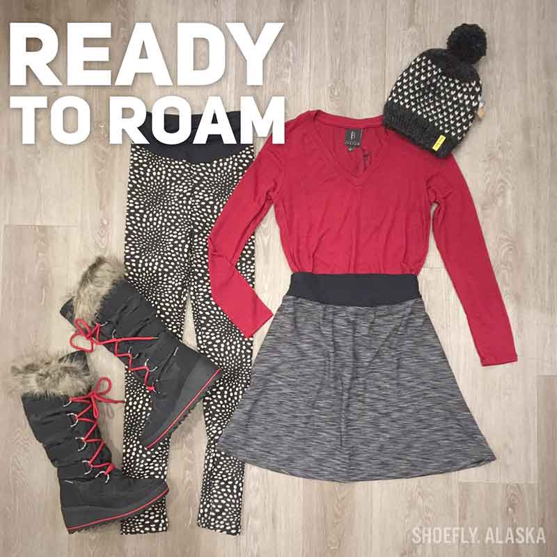 "A winter outfit from Shoefly makes you ""Ready to Roam"""