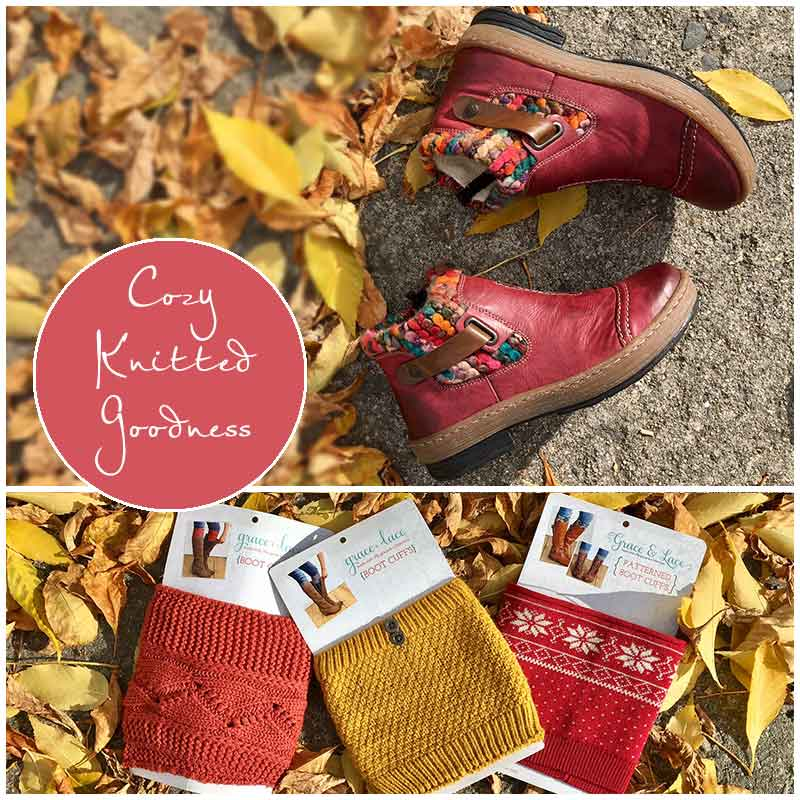 Cozy Knitted Goodness in boots and boot cuffs at Shoefly Alaska